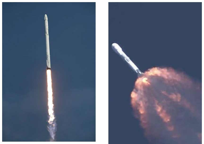 Falcon 9 Exhaust Shapes
