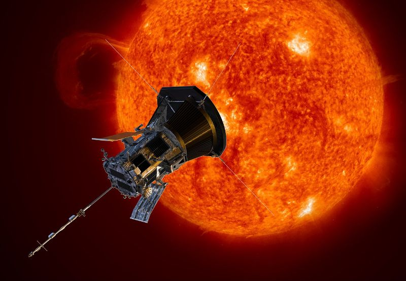 An artistic rendition of the Parker Solar Probe.