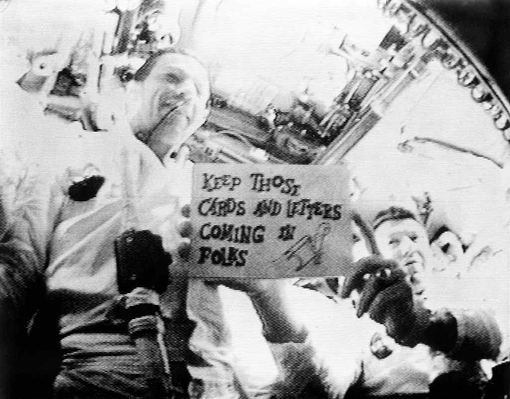 Apollo 7 transmitted the first live television broadcast aboard a crewed American spacecraft.