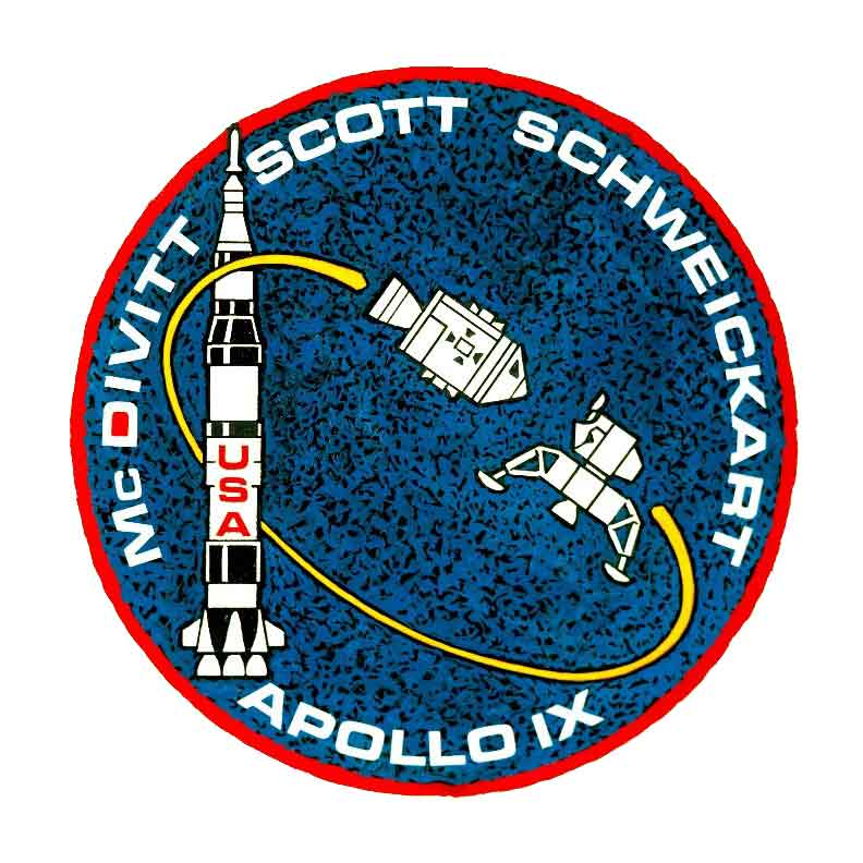Apollo 9 official mission patch (Image credit NASA)