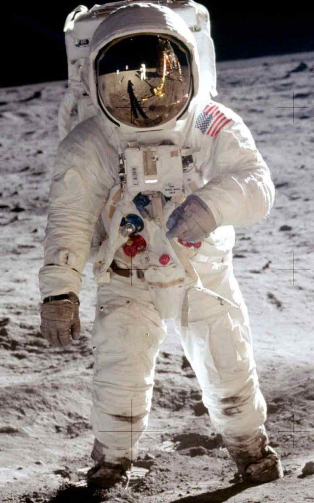 Apollo A7L space suit worn by astronaut Buzz Aldrin on Apollo 11