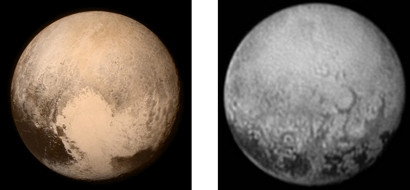 Fig: Pluto and Charon as viewed by New Horizon space probe