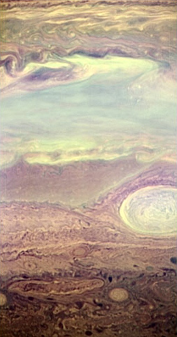 Figure 3 shows the infrared image of Jupiter by New Horizons
