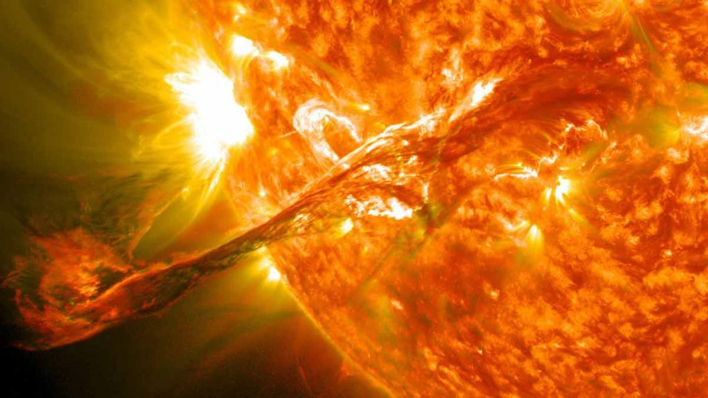 The coronal mass ejection of sun