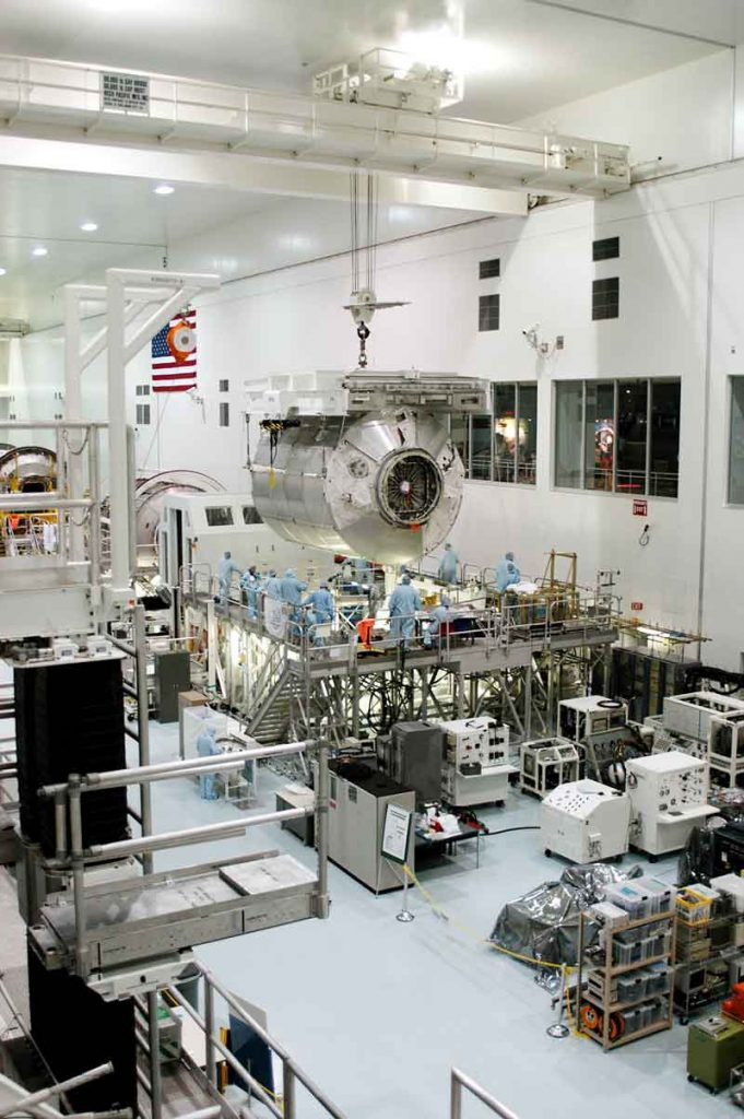 The Space Station Processing Facility at Kennedy Space Center - the prime factory for final fabrication and processing of station components for launc