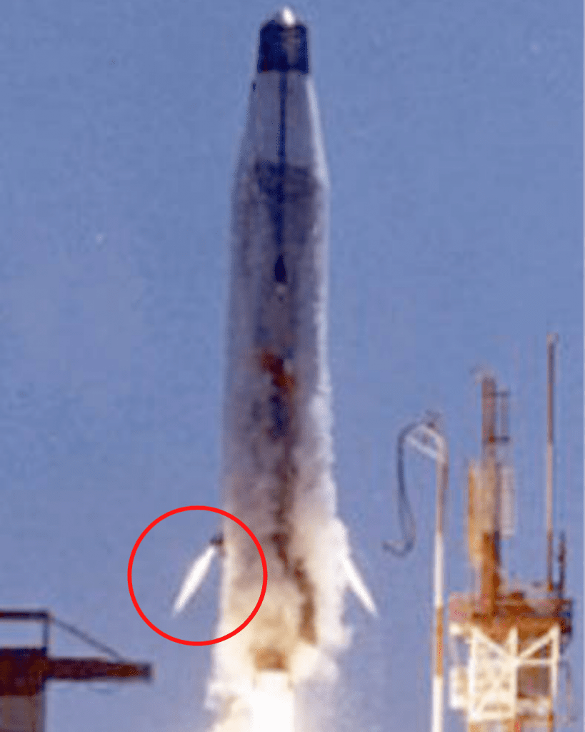 Today, we will be discussing: What is a Vernier Thruster? Have a look at the below photograph. The encircled part is a Vernier thruster in action.