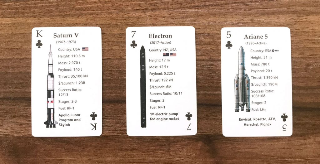 Clubs Rocket Deck Playing Cards