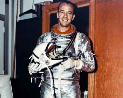 Alan Shepard prepares for his historic flight on May 5, 1961