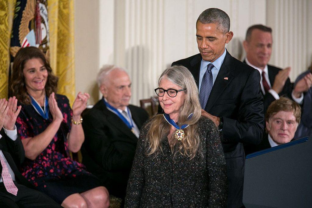 Barack Obama awards the Presidential Medal of Freedom to Hamilton in 2016