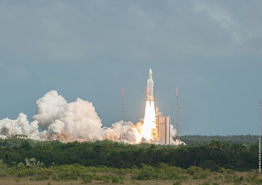 Ariane 5 in full glory! Photo Credits: ESA