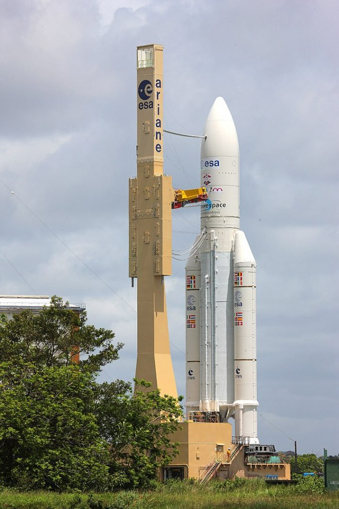 Ariane 5 ES with ATV-4 on board on its way to the launch pad in June 2013.