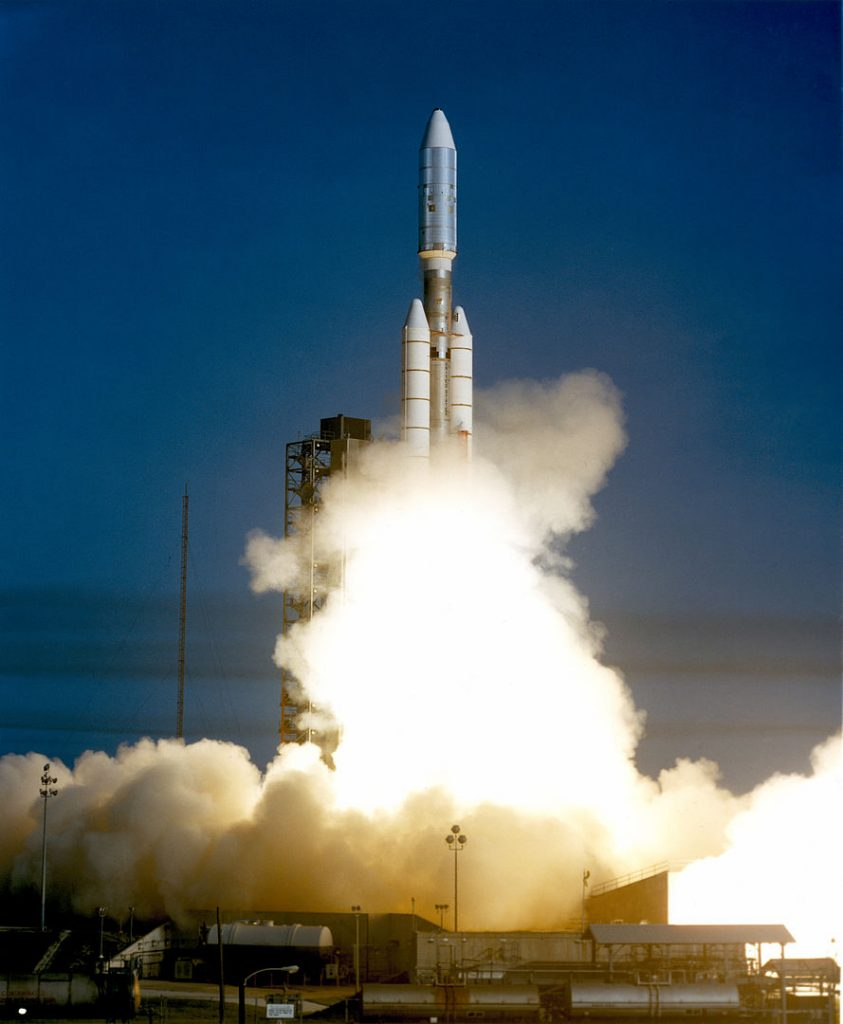 Voyager 1 lifted off atop a Titan IIIE.