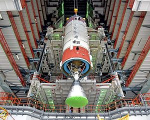 PSLV-C50 second stage with Vikas engine