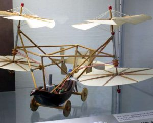 """Model of Sir George Caley's """"Aerial Carriage"""", 1843. Licensed under the Creative Commons Attribution-Share Alike 3.0 Unported license."""